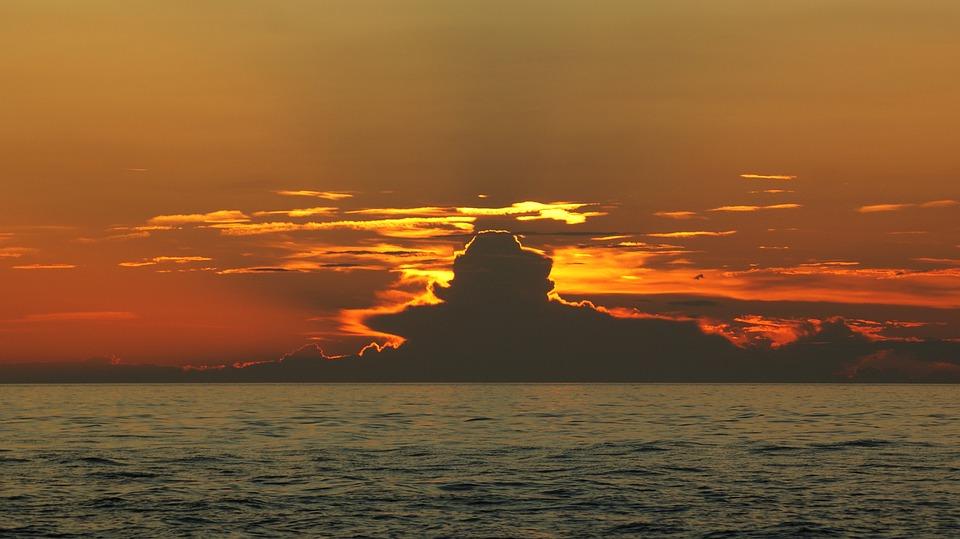Umore Cloud, Mare, Cielo, Tramonto, Nubi
