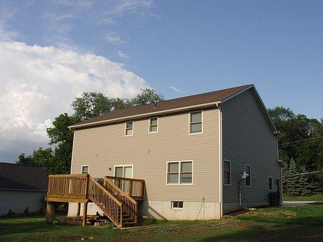 House, Yard, Deck, Estate, Home