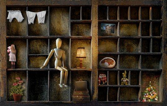 洗浄, イースター, クリスマス, 木, 引き出し, 木製の人形, 女の子