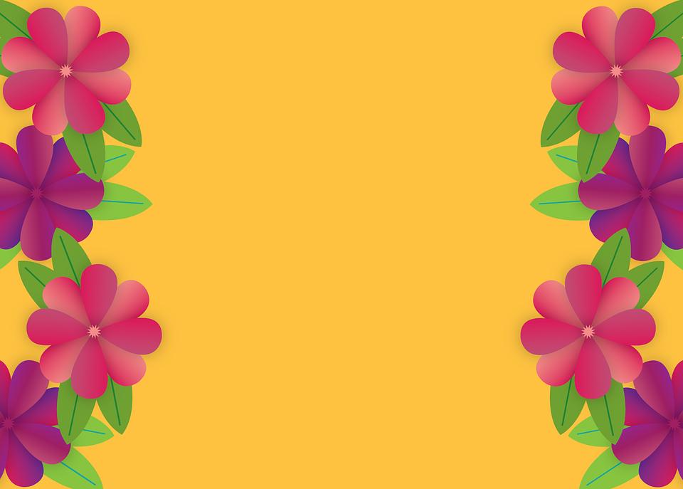 Bordure Fleurie Cadre Fleurs Image Gratuite Sur Pixabay