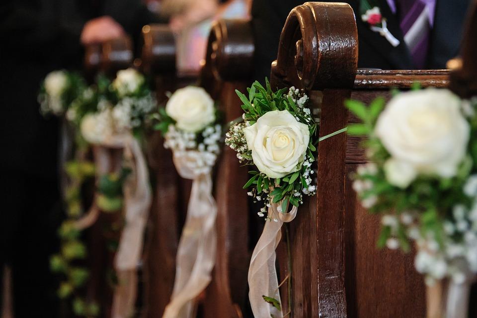 Blumenschmuck Kirche Hochzeit Kostenloses Foto Auf Pixabay