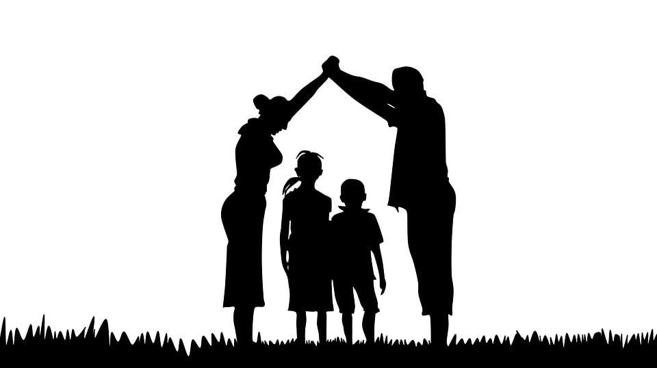 Familia Silueta Oración · Imagen Gratis En Pixabay