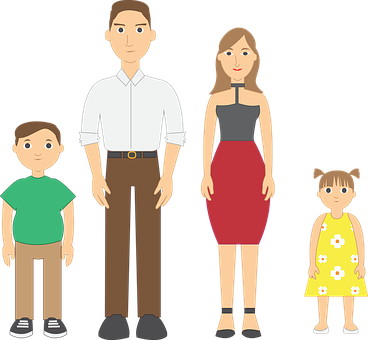 Family Vector Father Mother Children