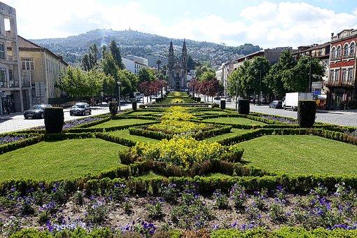 Garden, Formal, Landscape, Botanical