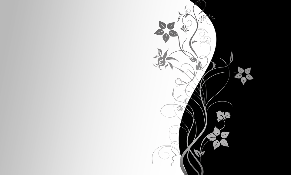 Free Illustration Wallpaper Black White Decorative