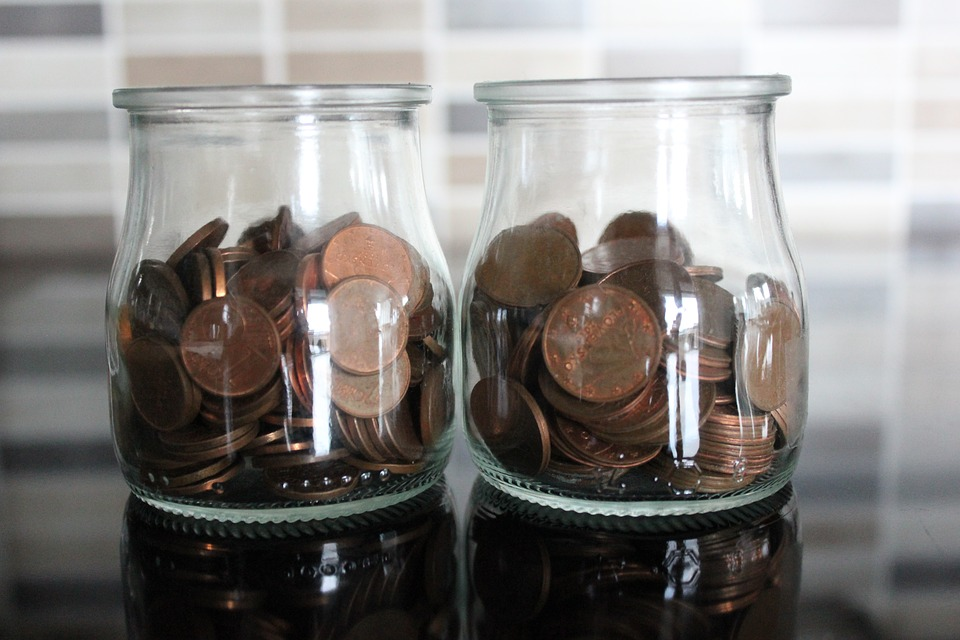 Coins, Euro, Save, Money, Glass, Cup