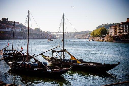 Río Duero, Porto, Barco Rabelo, Portugal