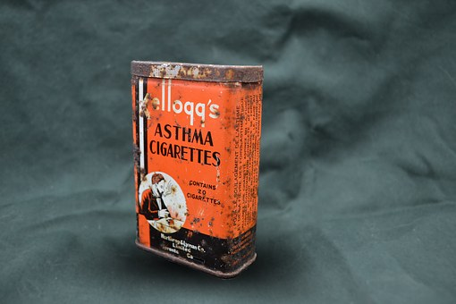 Cigarettes, Kelloggs, Tin, Graphic, Rust