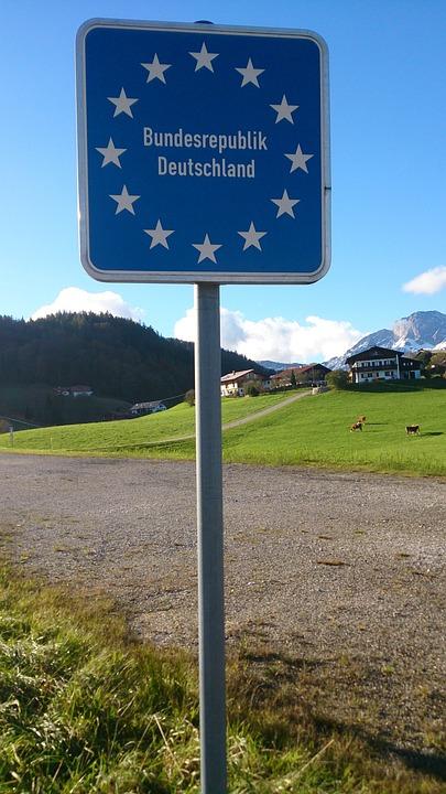 Tyskland, Grænseovergang, Grænse, Tegn, Eu