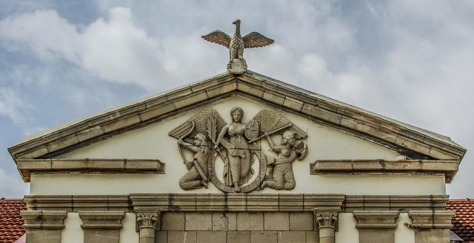 Cyprus, Xylotymbou, School, Neoclassic, Architecture