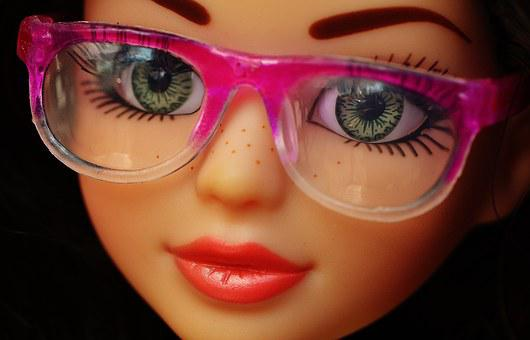 Doll, Pretty, Face, Eyes, Glasses