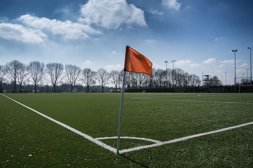 Football, Soccer, Pitch, Field, Flag, Corner, Grass
