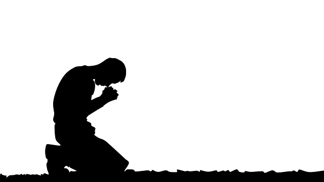 Spring Silhouettes And Shadows >> Prayer Praying Man Illustration · Free image on Pixabay