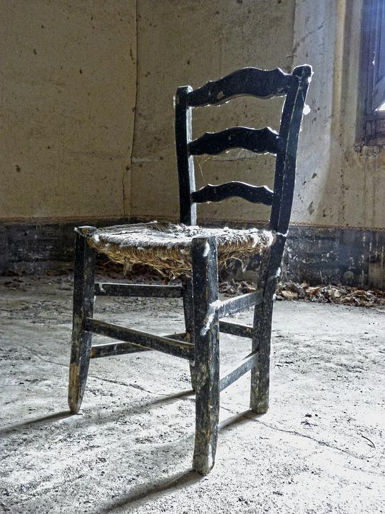 Chair Rickety Old Abandoned Broken