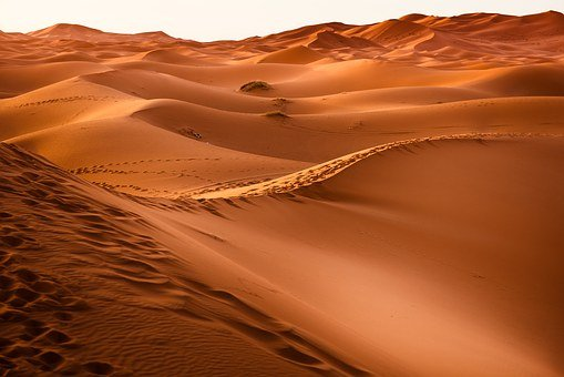 Deserto, Marrocos, Duna De Areia, Seca