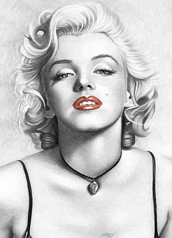 Marilyn Monroe Actress Cinema Woman Marily