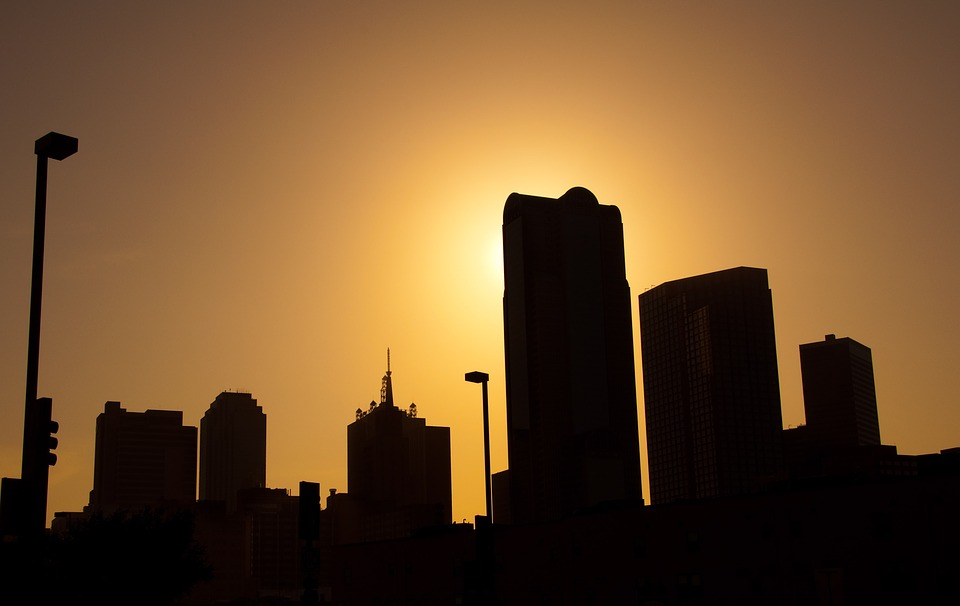 dallas skyline silhouette free photo on pixabay