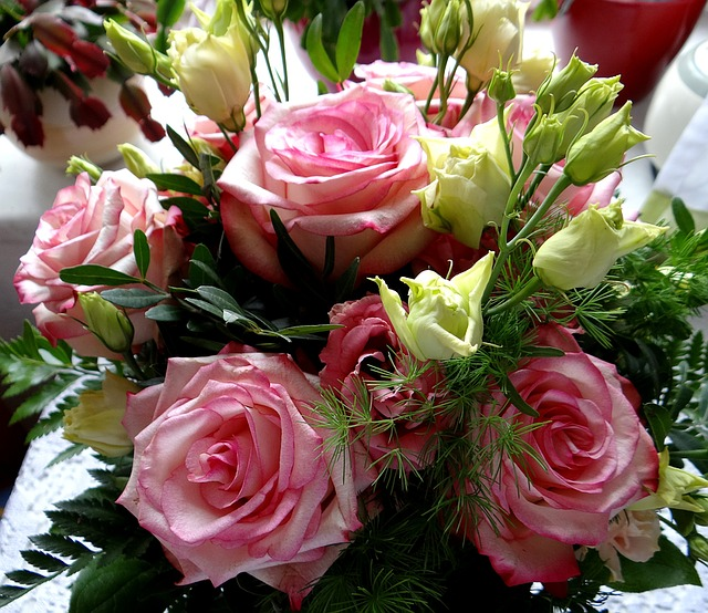 Free photo bouquet of roses roses feast day free image on pixabay 1272692 - Image bouquet de roses gratuit ...
