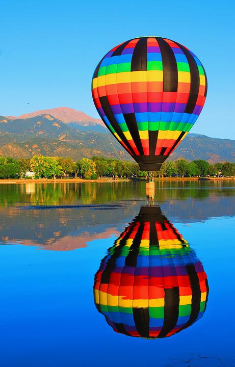 Pikes Peak Coffee >> Free photo: Hot Air Balloon, Reflection - Free Image on Pixabay - 1273564