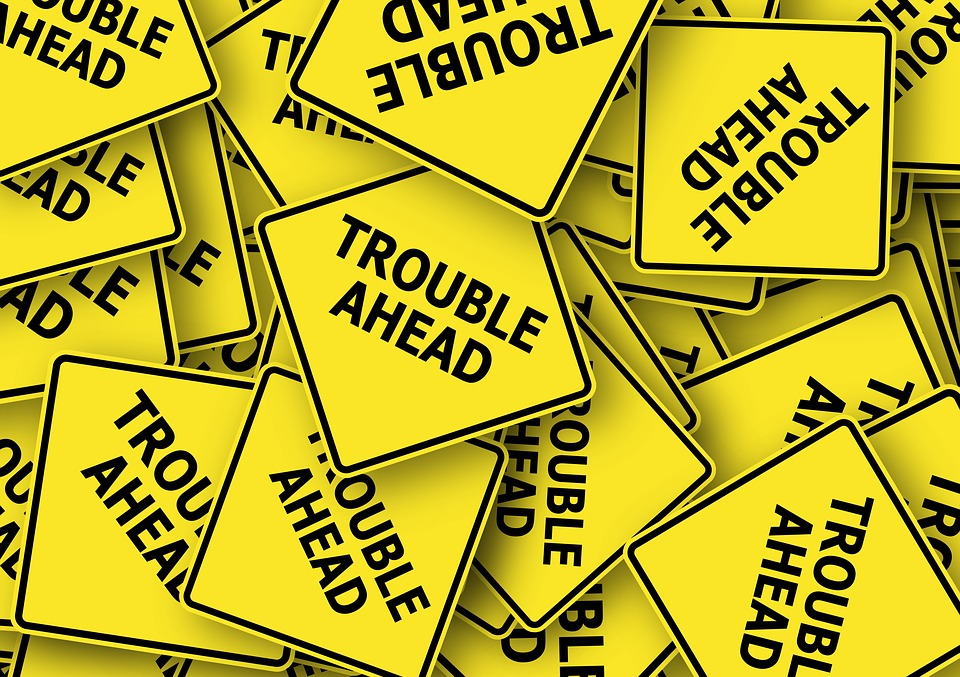 Road Sign, Usa, Trouble, Problem, Concern