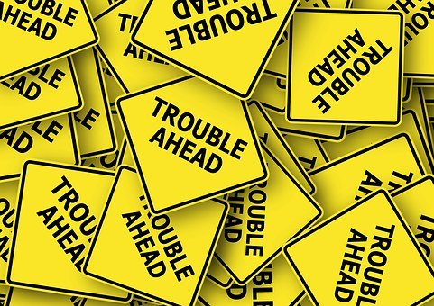 Road Sign, Usa, Trouble, Problem