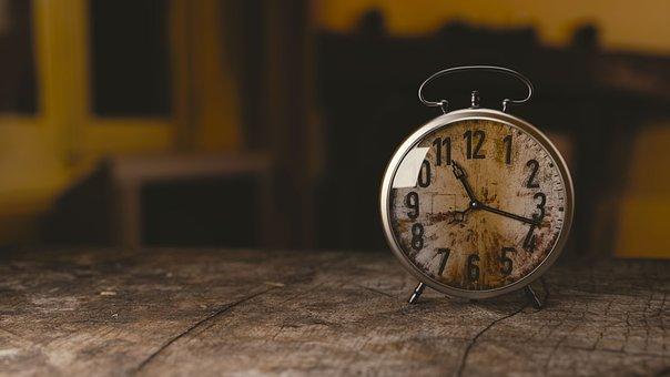 クロック, 目覚まし時計, 時計, 時間, 古い, 番号, 分, アナログ