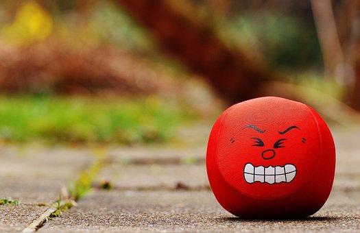 Smiley Wut Böse Sauer Lustig Rot Süß Niedl