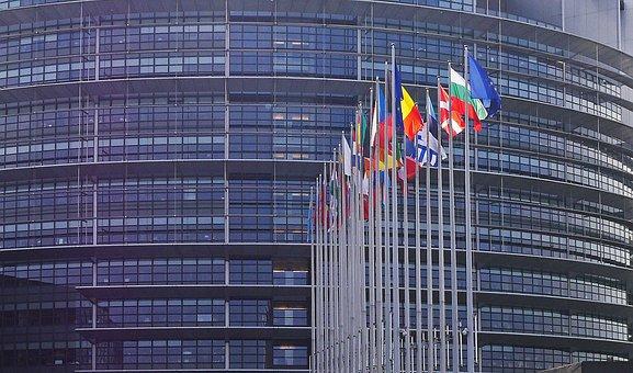 Parlamento Europeo, Strasbourg, Banderas