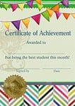 certificate, template, student