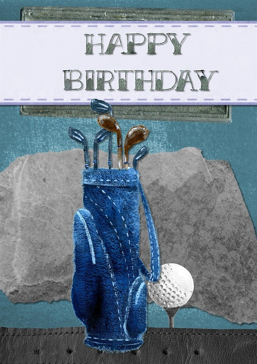 Happy Birthday Greeting Card Golf 183 Free Image On Pixabay