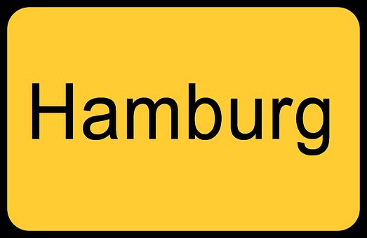 Ortsschild Hamburg Eingang Straße Verkehr