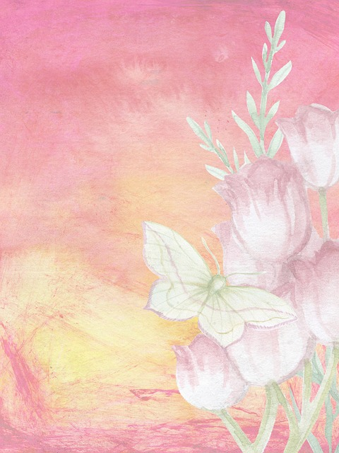 Free Illustration Background Romantic Butterfly Free