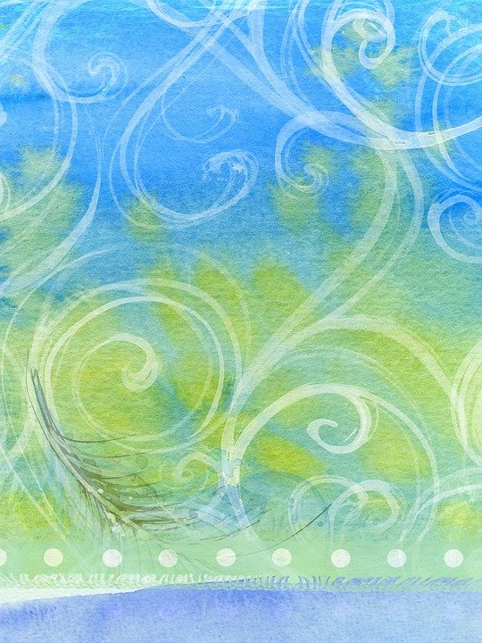 free illustration  background  abstract  swirls  green