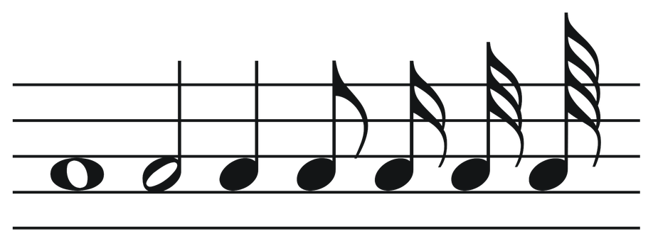 Music Notes Png Music Melody Range Mu