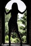 girl, backlight, silhouette