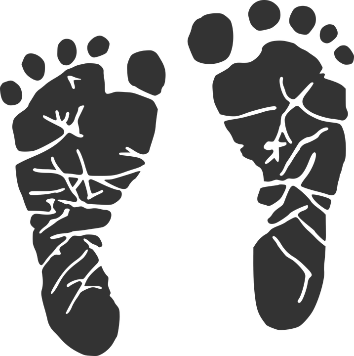Baby Footprint · Free vector graphic on Pixabay