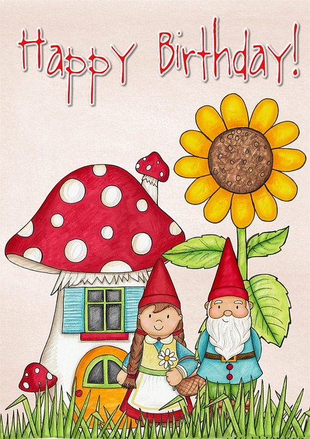 Free Illustration Happy Birthday Card Greeting Free