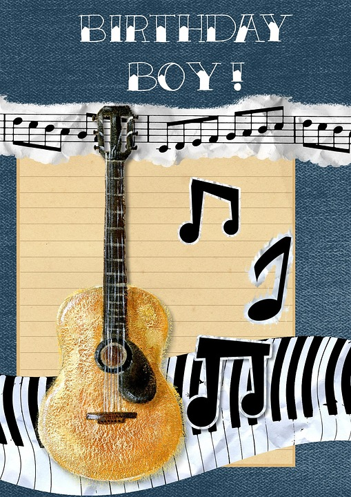 Happy birthday card free image on pixabay happy birthday card green greeting guitar music bookmarktalkfo Choice Image