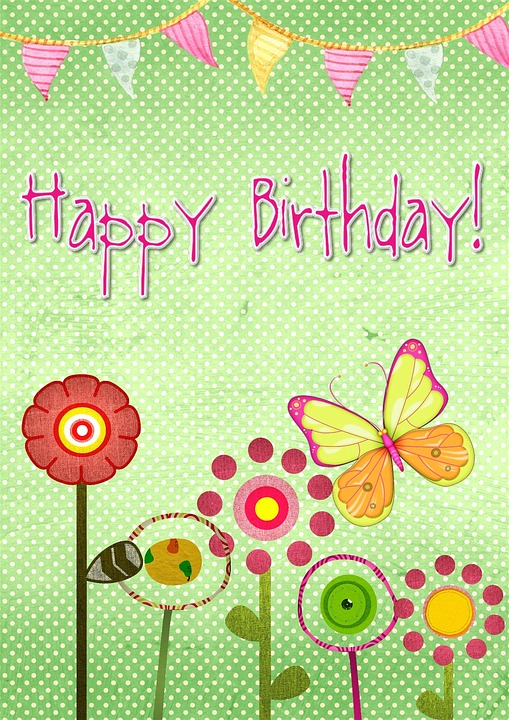 Happy birthday card images pixabay download free pictures happy birthday card greeting green abstrac bookmarktalkfo Gallery
