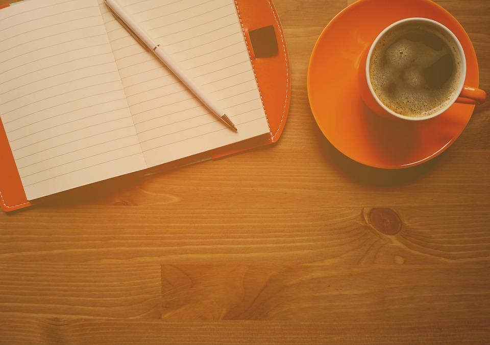 木, 背景, 橙色, 工作, 表, 办公室, 创意, 专业, 记事本, 咖啡桌