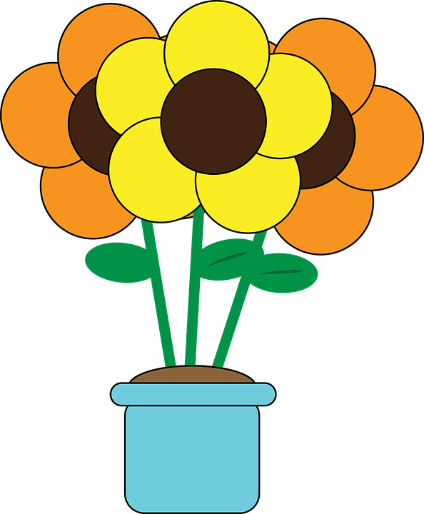 clipart flower in pot - photo #14
