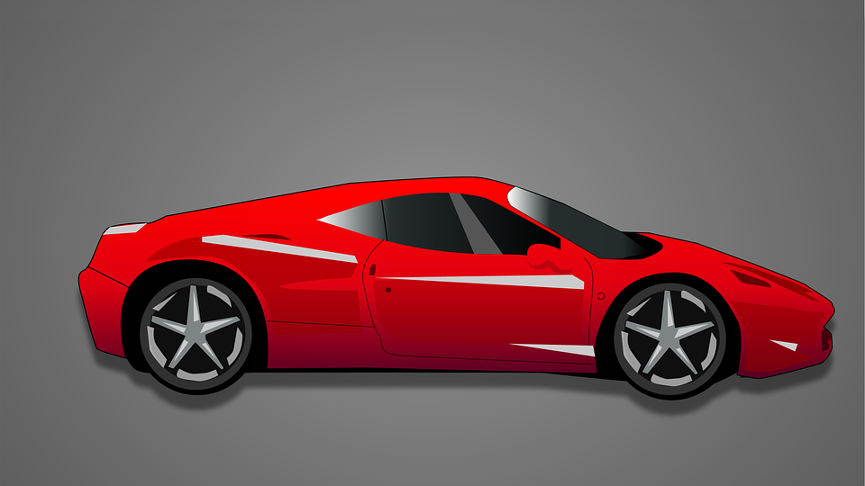 Red Car Free Illustrations On Pixabay - Red sports car