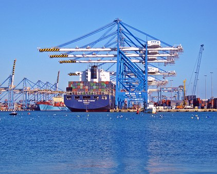 Dock Ship Container Port Boat Vessel Sea T
