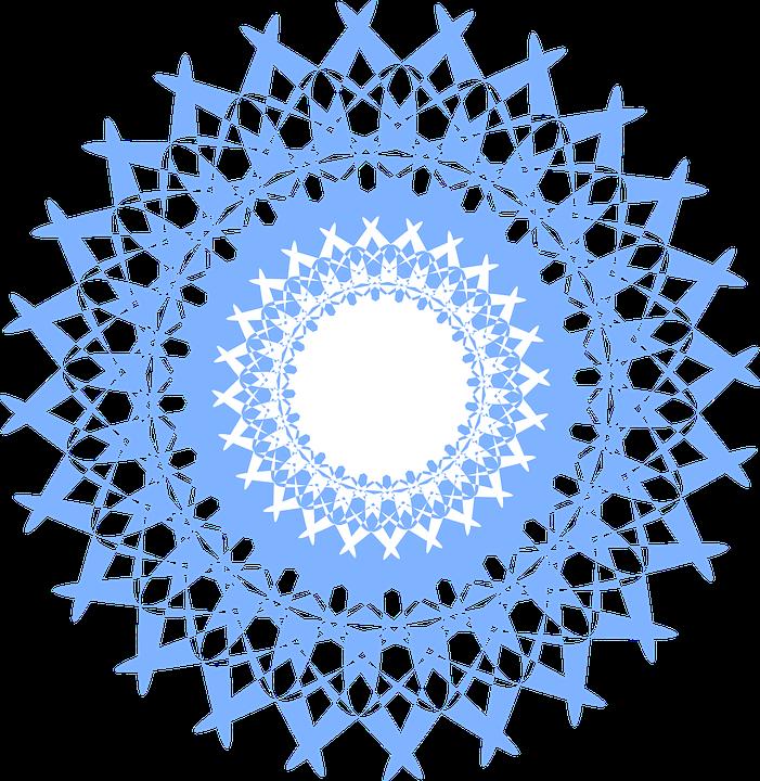 Mandala Spitze Blau Muster 1278271 on Mandala Border
