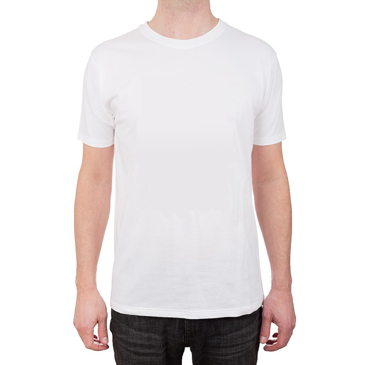 Free photo t shirt white garment rags free image on for T shirt template with model