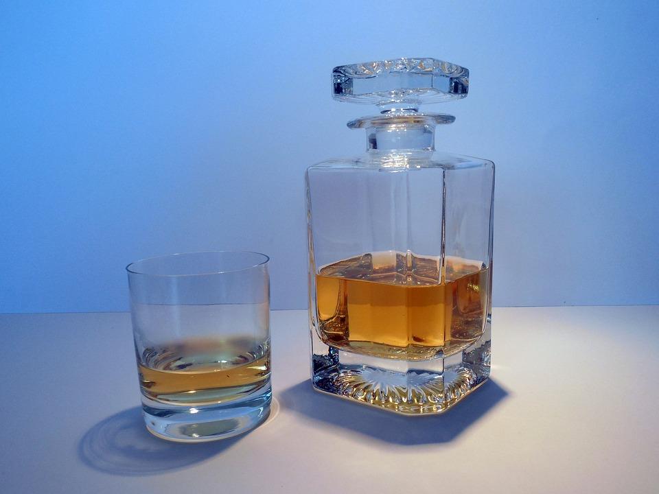 Alcohol, Whisky, Whiskey, Carafe, Bottle, Glass, Brandy