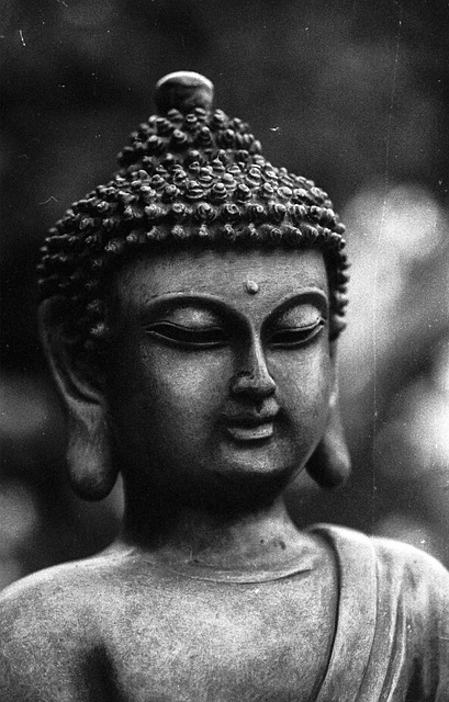 buddha black and white monochrome free photo on pixabay