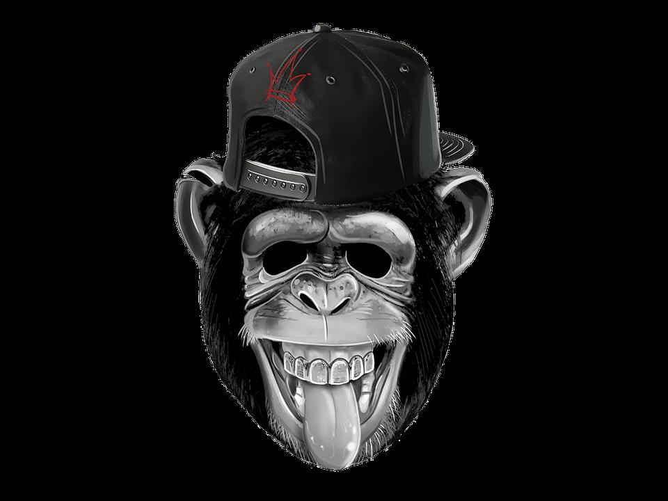 Monkey, Laugh, Funny, Fun, Drawing, Tongue, Cheeky