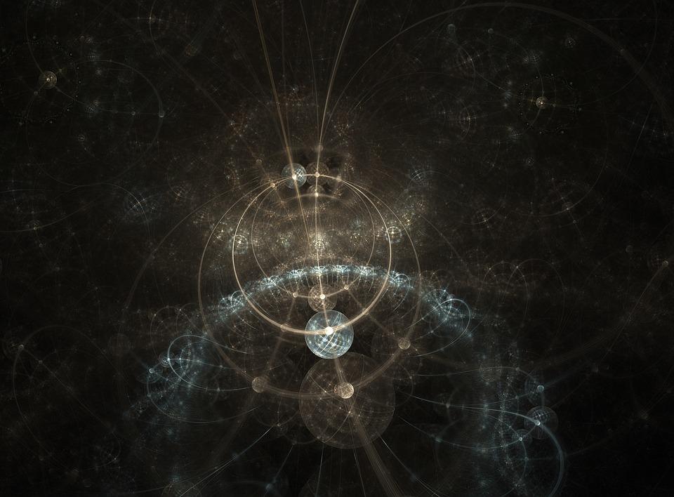 Fraktál, Abstrakt, Pozadí, Fyzika, Věda, Quantum