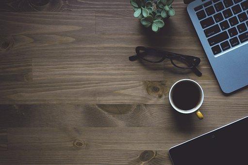 Workspace, Coffee, Laptop, Macbook